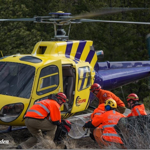 Search and rescue helicopter Okanagan SAR operations